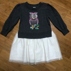 baby Gap Mix-Media Dress Owl 2Y
